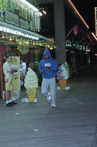 Mike Tyson Running On Boardwalk, Pre-Dawn
