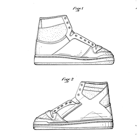 Design for a high-top shoe